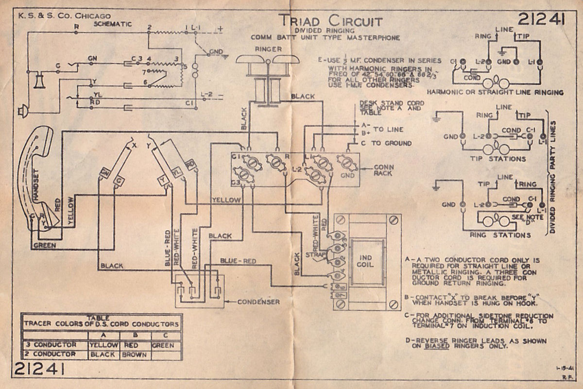 Masterphone 900 on telephone wiring schematics